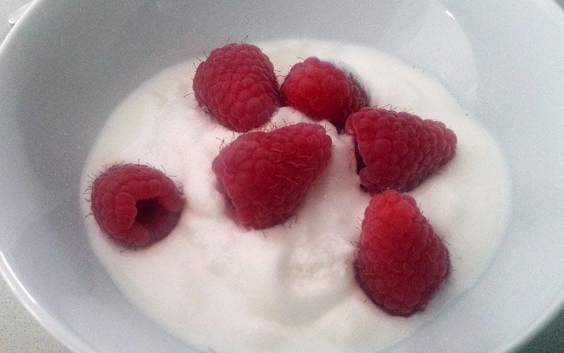Griekse yoghurt frambozen