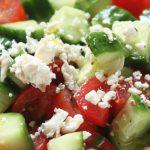 Griekse salade lunch