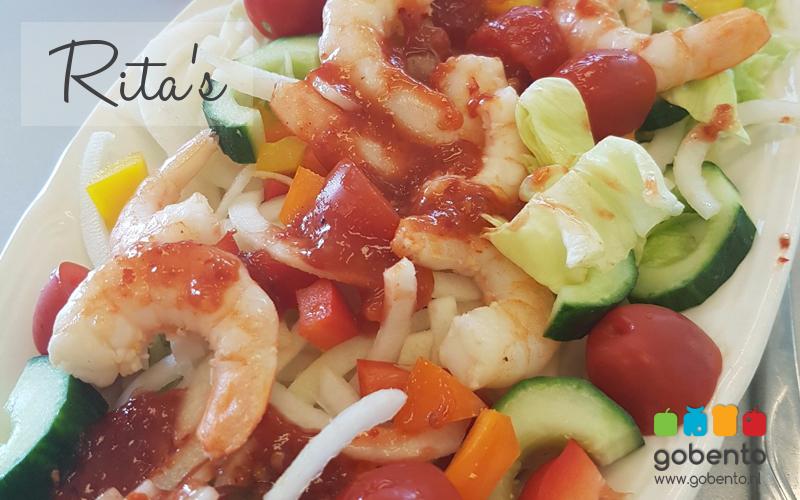 Garnalen salade met sambal | Gobento.nl